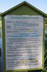 Réglement étang des Pilles