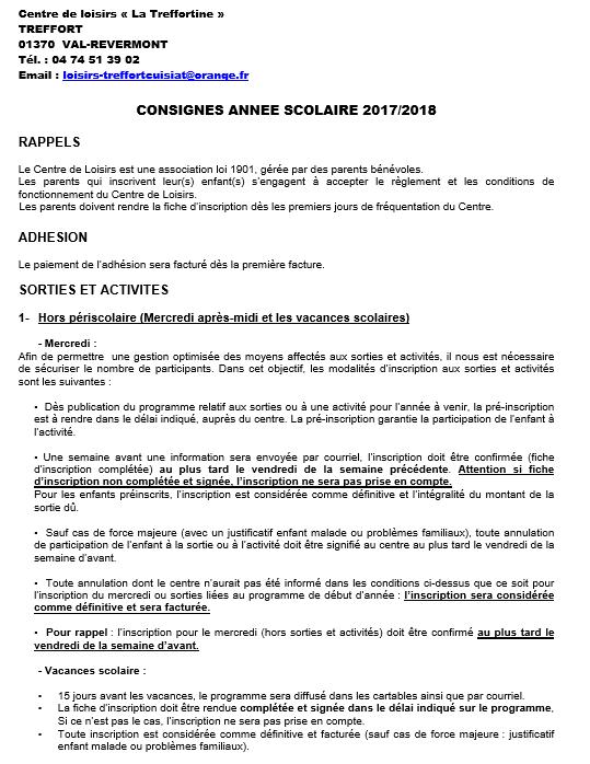 Consignes page 1