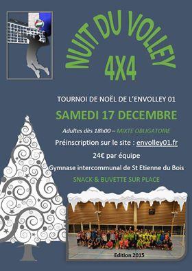 LA NUIT DU VOLLEYBALL  TOURNOI 4X4 MIXTE OBLIGATOIRE Dès 18H.