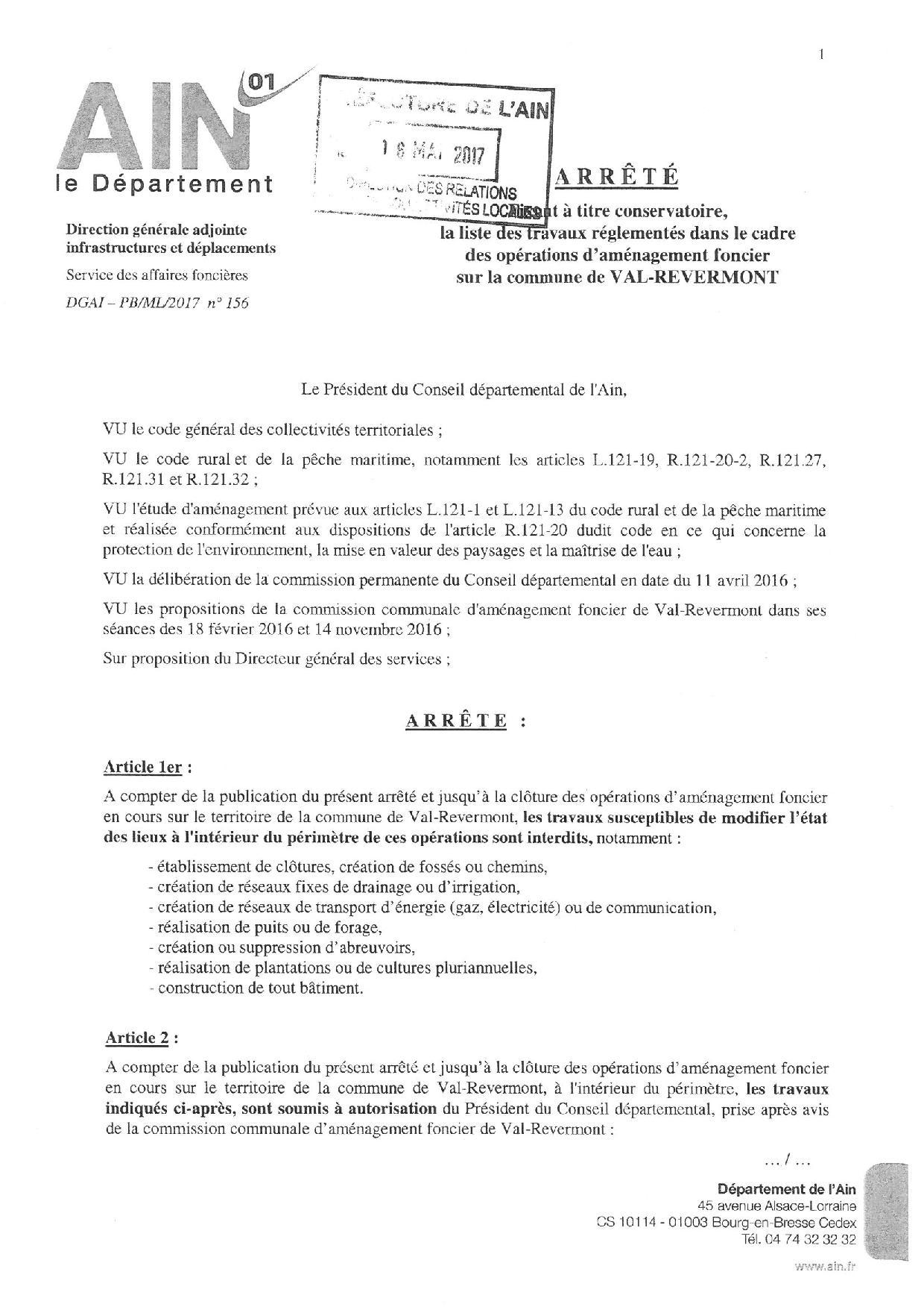 Arrêté liste des travaux réglementés dans le cadre des opérations d aménagement foncier-1-page-001