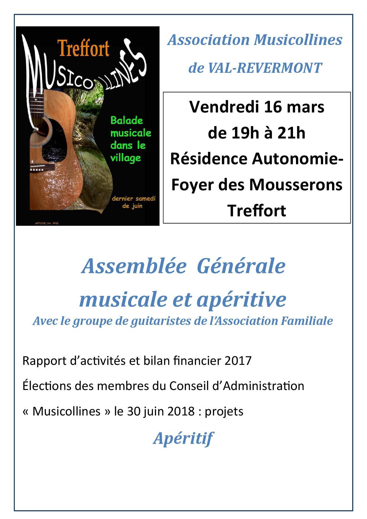 affichettes AG Association Musicollines