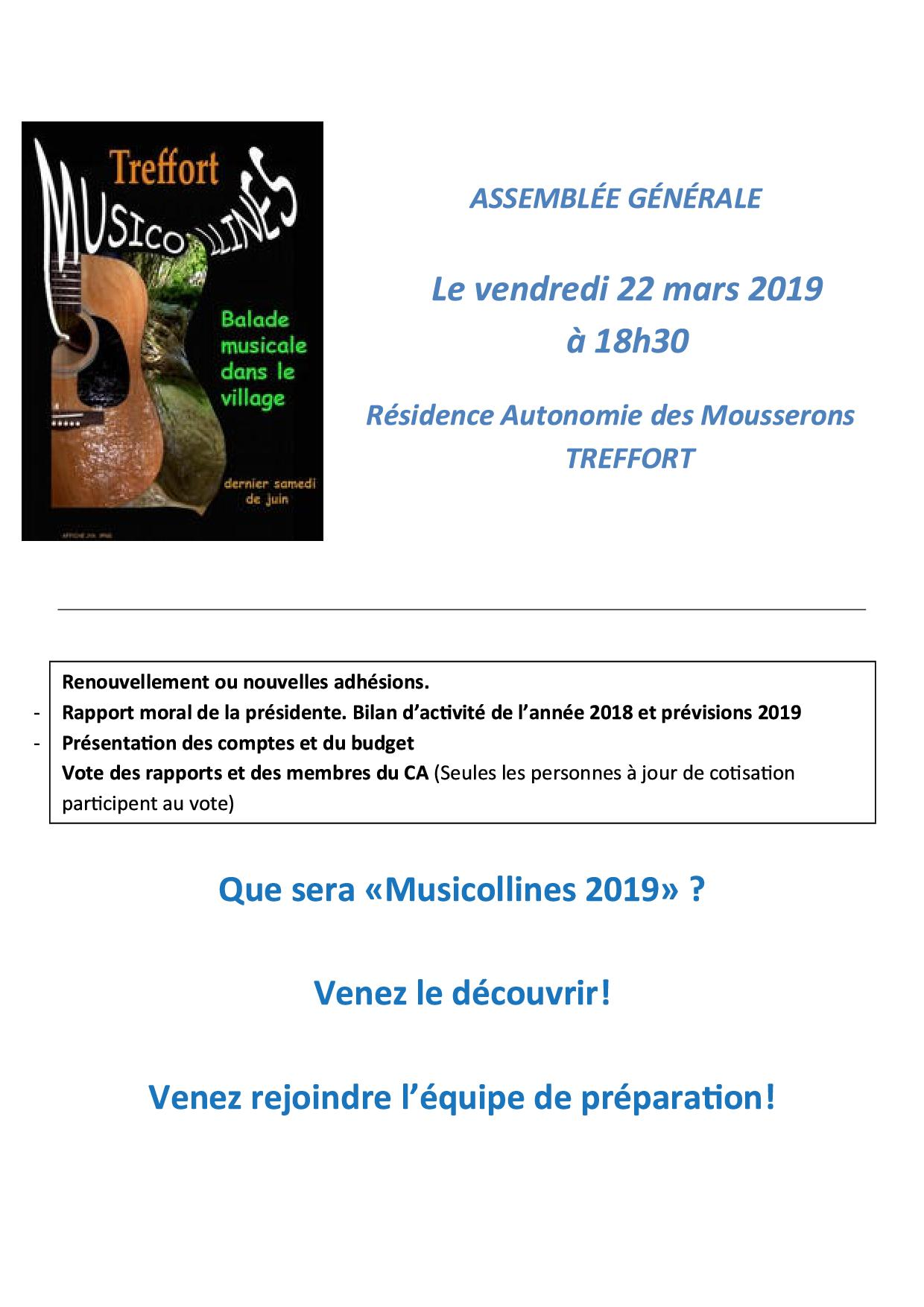 Assemblée Générale MUSICOLLINES