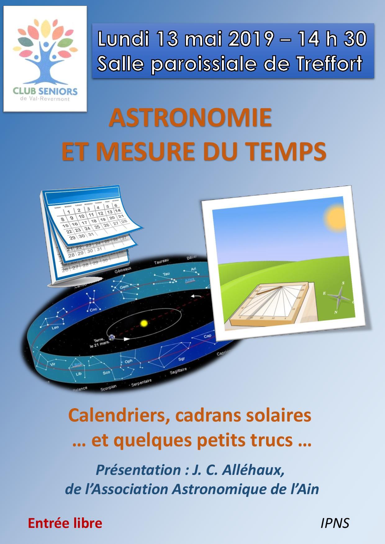 Astronomie et mesure du temps