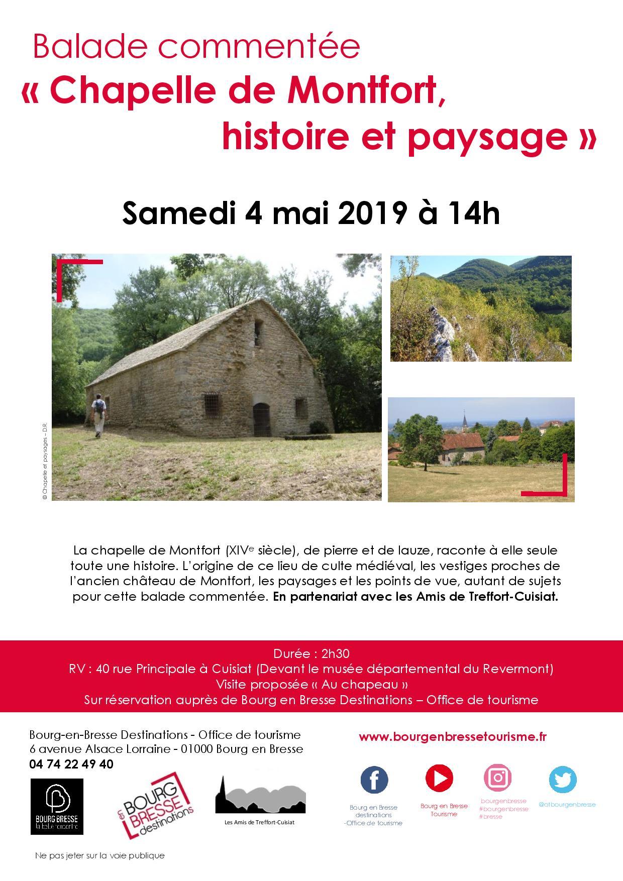 Ballade commentée : chapelle de Montfort, histoire et paysage