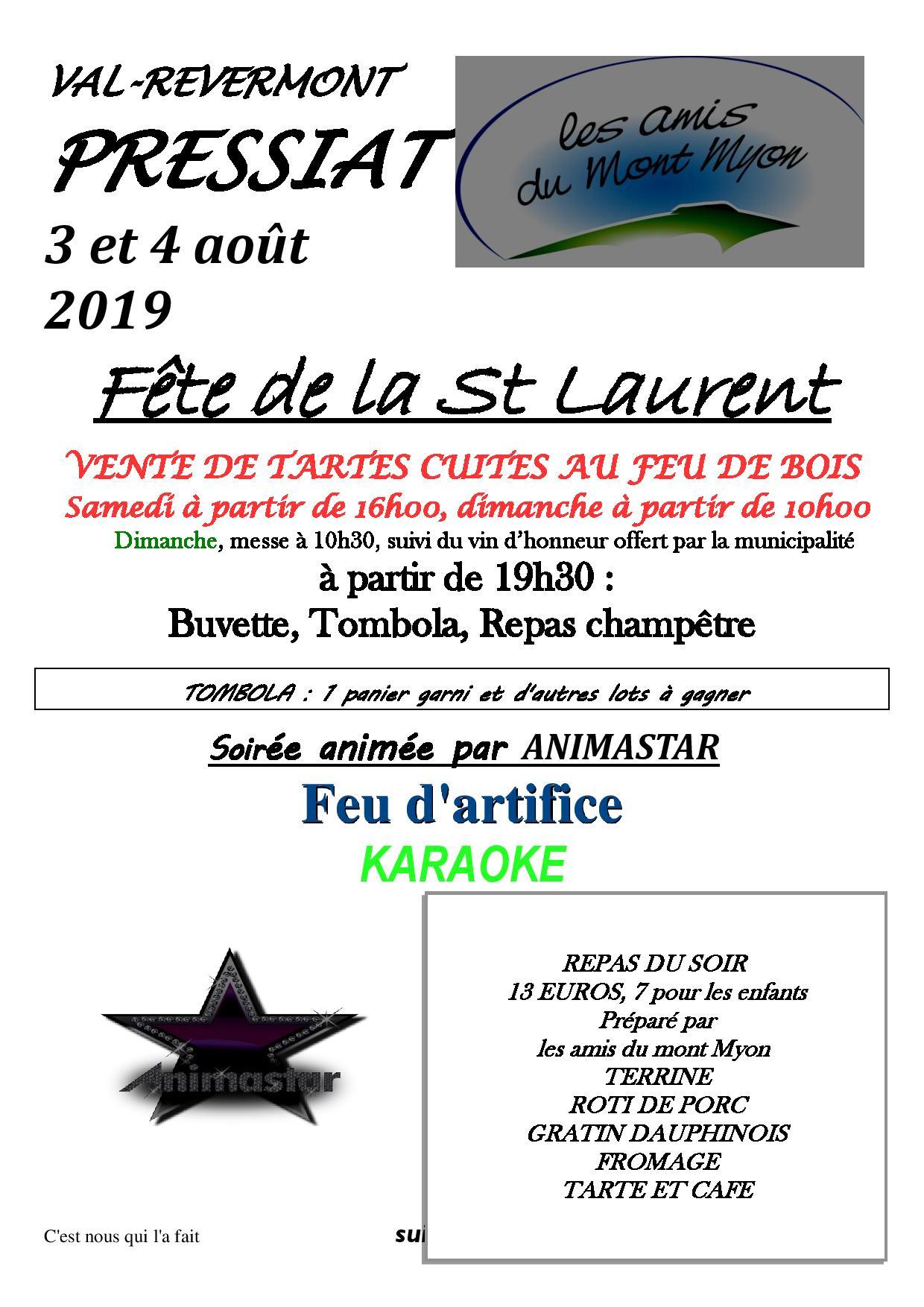 Fête de la St Laurent