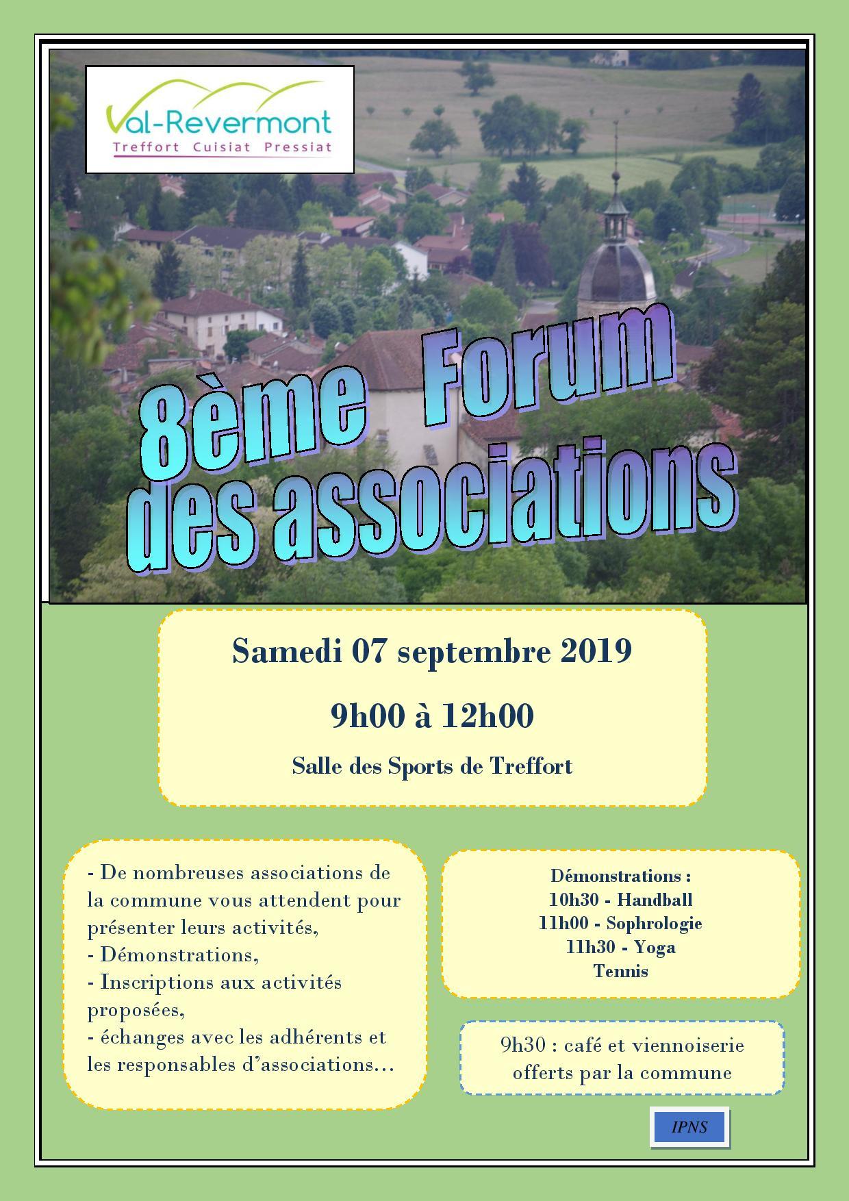 8ème Forum des associations, le samedi 07 septembre