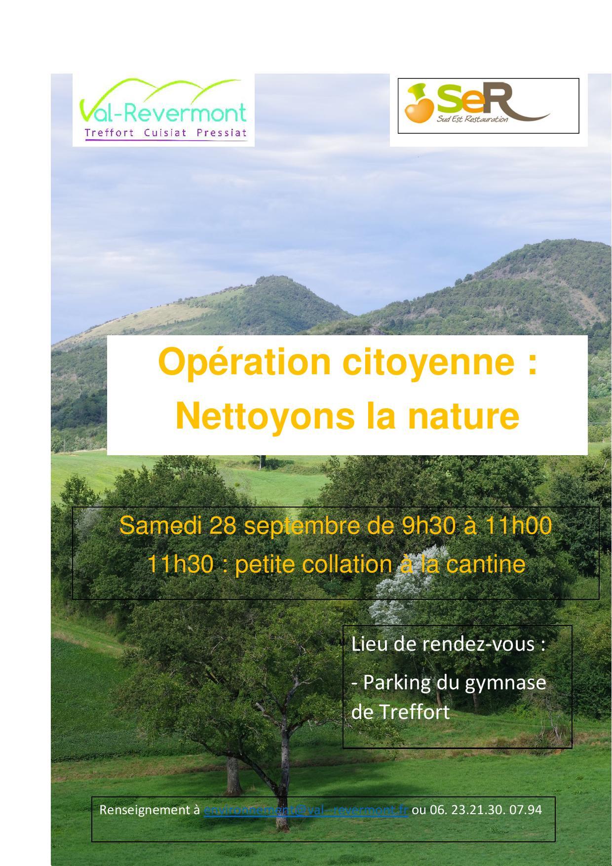 Opération citoyenne : nettoyons la nature