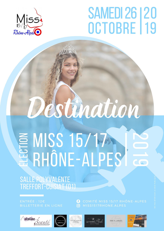 Election de Miss Rhône Alpes 15 / 17 ans