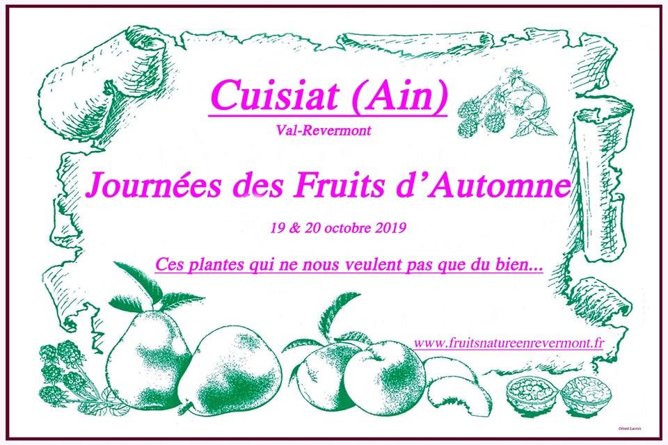 Journées des fruits d'automne les 19 et 20 octobre